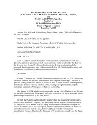 NOT DESIGNATED FOR PUBLICATION In the ... - Kansas divorce