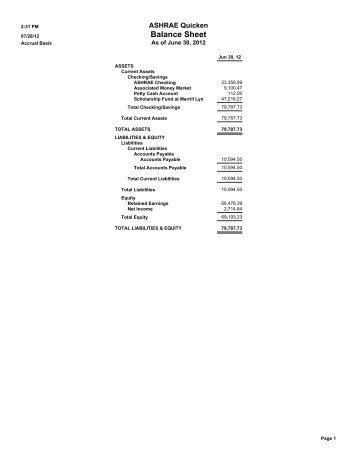 Balance Sheet - Ashraemadison.org