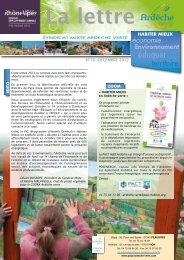 Lettre d'info n° 10 Ardèche verte & cahier spécial EEDD - déc 2012
