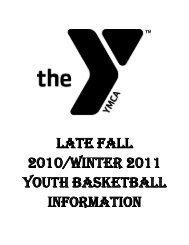 LATE Fall 2010/Winter 2011 YOUTH ... - Frankfort YMCA