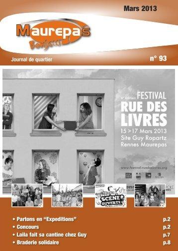 Maurepas Bonjour n° 93 - mars 2013 - Ville de Rennes