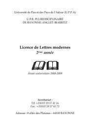 (Guide des études-Lettres-2e année 2008-2009 juin 2008) - UFR ...