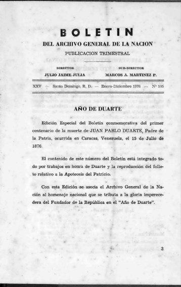Año de Duarte. Reproducción del folleto relativo a - BAGN