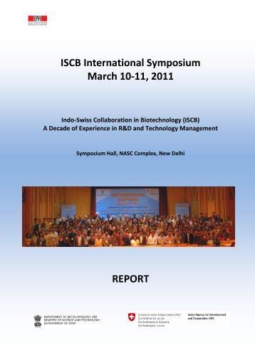 ISCB International Symposium March 10-11, 2011 ... - ISCB - EPFL