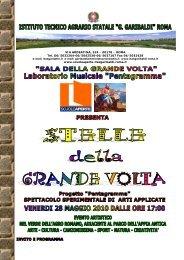 invito - programma della manifestazione - itas g.garibaldi roma
