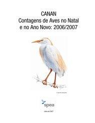 CANAN Contagens de Aves no Natal e no Ano Novo: 2006 ... - spea.pt