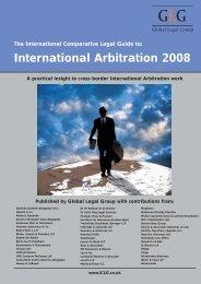 International Arbitration 2008