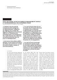 • à imposer une plus grande transparence des entreprises : en ... - Crid