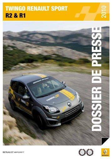 Twingo REnAULT SPoRT R2 & R1 - Championnat suisse des rallyes
