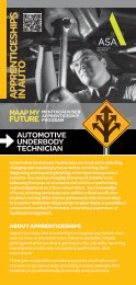 Automotive Underbody Technician - MAAP My Future