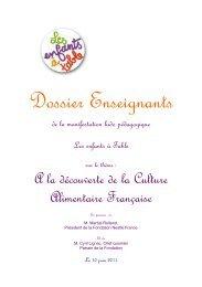 Téléchargez le dossier pédagogique - Fondation Nestlé France