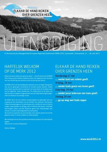 hartelijk welkom op de merk 2012 elkaar de hand reiken over ...