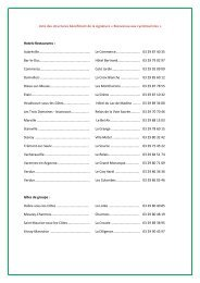 la liste des structures touristiques - Tourisme en Meuse