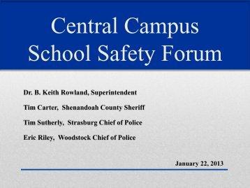 Central Campus School Safety Forum - Shenandoah County Public ...