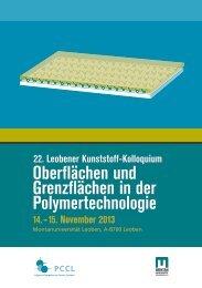 Oberflächen und Grenzflächen in der ... - Kunststofftechnik