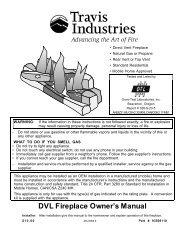 DVL Fireplace Owner's Manual - Lopi