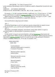 Hotararea Guvernului nr. 64/2011 pentru aprobarea Metodologiei cu ...