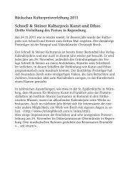 Schnell & Steiner Kulturpreis Kunst und Ethos