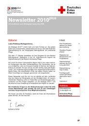 Newsletter 2010 - Landesverband Rheinland-Pfalz eV - DRK