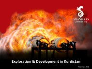 Corporate Presentation - November 2011 - ShaMaran Petroleum ...
