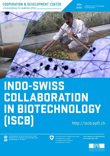 indo-swiss collaboration in biotechnology - ISCB - EPFL