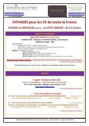 VOYAGES pour les CE de toute la France - Cezam Auvergne