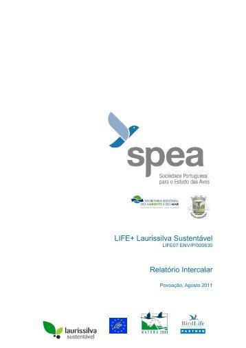 Relatório Intercalar - LIFE Laurissilva Sustentável - spea.pt