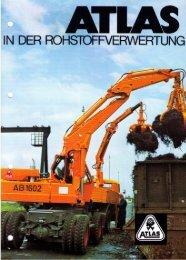 In der Rohstoffverwertung 1971 - ATLAS Hydraulikbagger