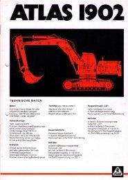 Technische Daten Prospekt AB 1902 Raupenbagger von 1976
