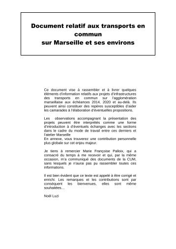 Document relatif aux transports en commun - Pcf