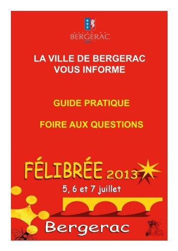 FAQ_Felibree - Bergerac