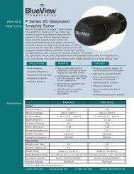 P900 Series Deep Data Sheet - BlueView Technologies, Inc.