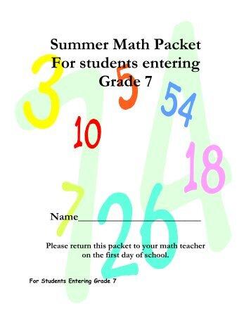summer math reinforcement packet entering 4th grade 5th. Black Bedroom Furniture Sets. Home Design Ideas
