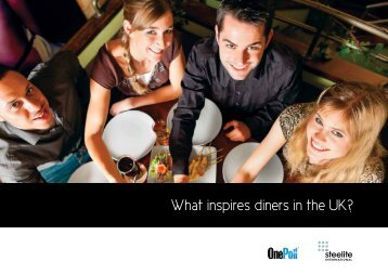 What inspires diners in the UK? - Steelite International
