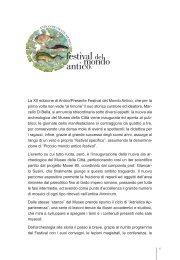 La XII edizione di Antico/Presente Festival del ... - Rimini Turismo