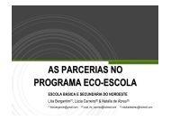 as parcerias no programa eco-escola - Centro Ambiental do Priolo