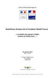 Le programme des Quatrièmes Assises de la Fondation