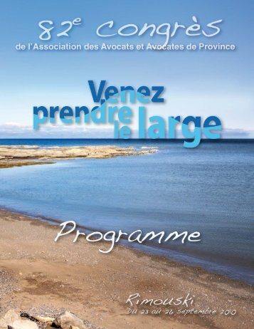 programme - Association des avocats et avocates de province