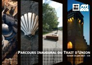 Parcours inaugural du Trait d'union - Cahors