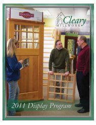 Download the Display Program - Cleary Millwork