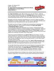 Freitag, 18. Oktober 2013 20.30 – 00.30 Uhr 21. Alpen Grand Prix ...