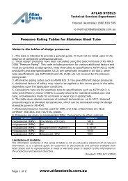 St St Tube Pressure Rating Charts rev Nov 2010 - Atlas Steels