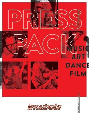 MUSIC ART DANCE FILM - Incubate