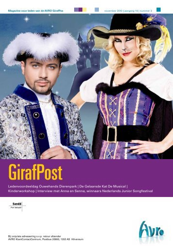 Ledenmagazine GirafPost nov. 2010. - Hetbeteretekstwerk.nl