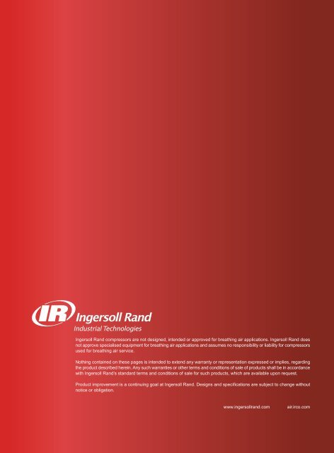 Ingersoll Rand compressors are not designed, intended or ... - Acw.ir