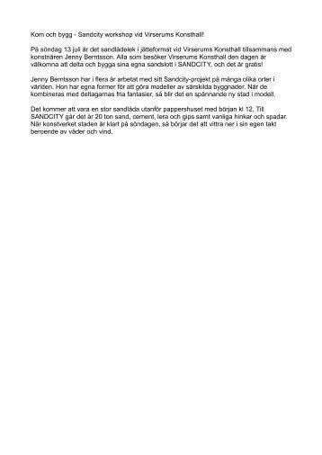 Mer information - Virserums Konsthall