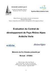 Evaluation du Contrat de développement de Pays Rhône Alpes ...