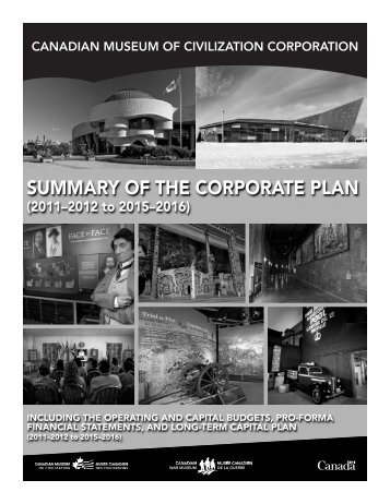 Summary of the Corporate Plan (2011–2012 to 2015–2016)