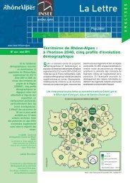 projection démographique territoires CDDRA - Région Rhône-Alpes