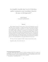 Les inégalités sexuelles dans l'acc`es ` - Analyse économique et ...